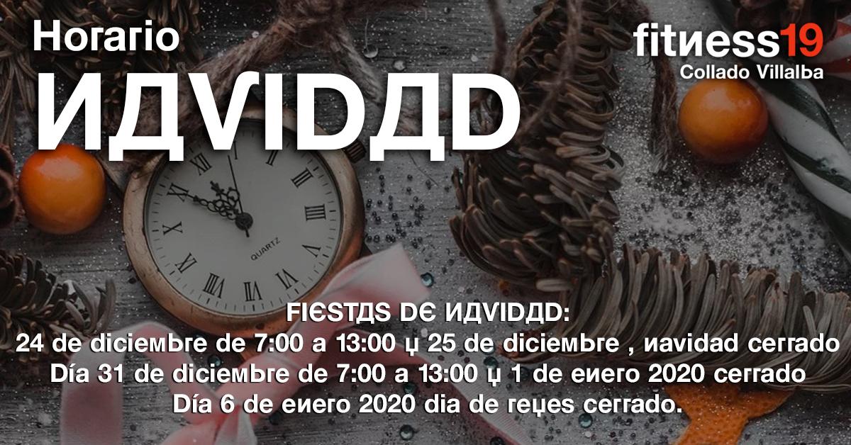horario especial navidad 2019