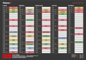Horario clases fitness19 abril2021